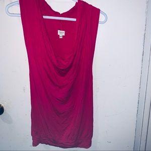 Talula Draper neck sleeveless blouse hot pink